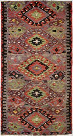 """Anadolu Kilim 5'7""""x10'6"""": Kilim Rugs, Dhurry Rugs, Tribal Rugs, Flatweave Rugs - ABC Carpet & Home"""