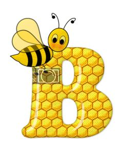 Alphabet letters bee on honeycomb. Bee Clipart, Scrapbook Letters, Bee Pictures, Spelling Bee, Bee Party, Cute Bee, Bee Crafts, Bee Design, Alphabet And Numbers
