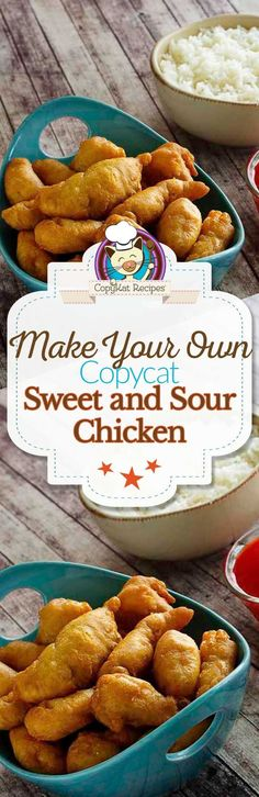 Nice Make your own delicious Sweet and Sour chicken like it is served in a restaurant. The post Make your own delicious Sweet and Sour chicken like it is served in a restaurant… appeared first on Trupsy . Turkey Recipes, Chicken Recipes, Sweet N Sour Chicken, Crispy Chicken, Baked Chicken, Chicken Gravy, Copykat Recipes, Asian Cooking, Cooking Wine