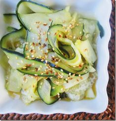 cucumber & rice wine vinegar salad. I've been really wanting to try this!