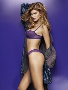 Maryna Linchuk posing for French lingerie brand Chantelle s Fall Winter 2013  Collection. f58647bd8