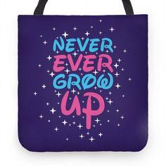 Never Ever Grow Up Tote #disney #tote #magic
