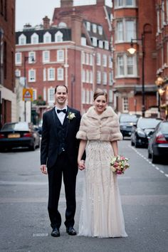 Jenny Packham Sequin Glamour For A Black Tie, City Chic Winter Wedding