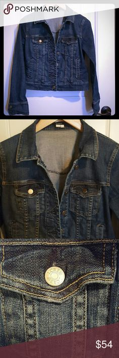 J. CREW Blue Jean Jacket Small So cute Looks great with sleeves cuffed Cotton and spandex 30 percent off bundles!!! see my closet for amazing bundle ideas!!! J. Crew Jackets & Coats Jean Jackets