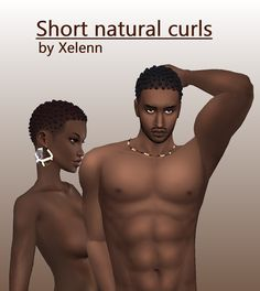 Sims 4 CC's - The Best: Short natural curls by xelennsimblr