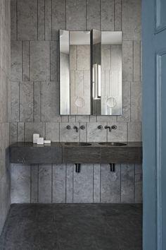 MadAbout Interior Design - The Milan apartment of Gabriele Salvatori Gabriele. Budget Bathroom, Bathroom Wall Decor, Bathroom Interior, Modern Bathroom, Small Bathroom, Bathroom Remodeling, Bathroom Mirrors, Bathroom Ideas, Boffi