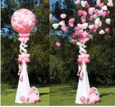 Instead of putting balloons in a box for gender reveal put it in a huge black balloon and pop it to release either pink or blue balloons to reveal gender