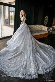 37692e97327 olivia bottega 2019 bridal short sleeves off the shoulder sweetheart  neckline heavily embellished bodice hem romantic