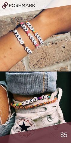 Summer bracelets/ beaded bracelets with words/ diy ...