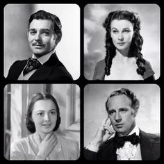Gone With The Wind  Clark Gable as Rhett Butler Vivienne Leigh as Scarlett O'Hara Olivia DeHaviland as Melanie Wilkes Leslie Howard as Ashley Wilkes.