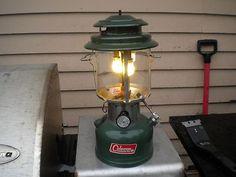 Vintage Coleman 220F Camping Lantern.  Oh my, brings back sweet memories.