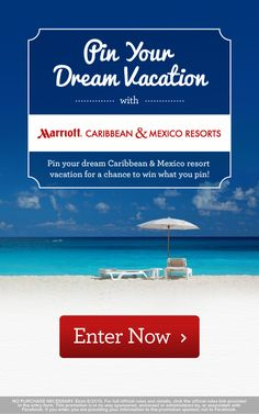 Enter our Pin Your Dream Vacation contest for your chance to win what you pin!