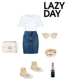 """Lazy"" by francystyling78 on Polyvore featuring moda, Victoria, Victoria Beckham, Nobody Denim, Converse, Gucci, Christian Dior e Valentino"