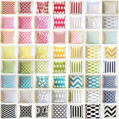 ONE Throw Pillow Cover. You Choose. 16 X 16 par thebluebirdshop
