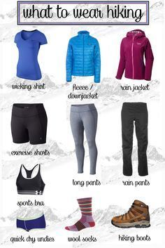 What to Wear Hiking Not sure what to wear when hiking? Learn with this hiking guide how to dress for function and comfort on the trail in different conditions. The post What to wear hiking appeared first on Camping. Thru Hiking, Camping And Hiking, Winter Hiking, Camping List, Winter Camping, Hiking The Appalachian Trail, Best Camping Gear, Camping Gadgets, Kayak Camping