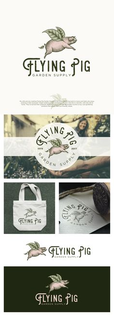 Designs | Help pigs fly - Design a logo for Flying Pig Garden Supply! Guaranteed Prize :) | Logo design contest