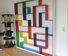 Tetris bookshelf (: