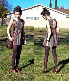 Dress, Bag, Tights, Shoes
