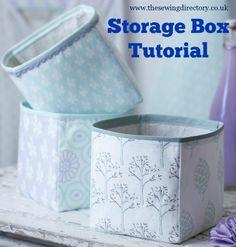 Free fabric storage boxes sewing pattern