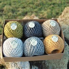 Just-Jute Twine Collection, in Vintage Style Gift Box
