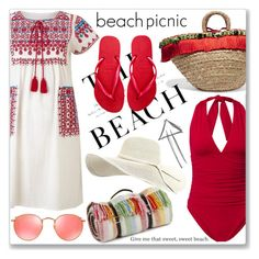 Beach Picnic by jan31 on Polyvore featuring polyvore moda style Star Mela Canvas by Lands' End Havaianas Dolce&Gabbana Ray-Ban Tweedmill H&M fashion clothing