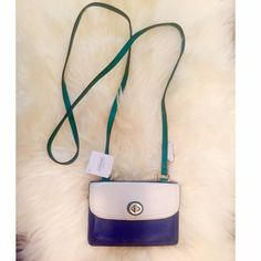 """🎉HP 6/29🎉Coach Dylan Crossbody Leather Purse This cute little purse is perfect for summer and handy for all occasions. It is the Coach Dylan purse.  Dimensions: 6""""X4""""X1.5"""" when closed, 8"""" when opened. 24"""" strap drop  Inside: Zippered 5"""" inch coin purse, bill holder, 5 credit card holders and ID window  Material: Leather  Condition: NWT. 🚫No trade Coach Bags Crossbody Bags"""