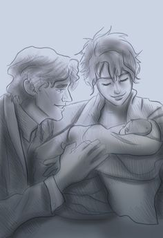 Remus Tonks & Teddy by Hilly Minne Art