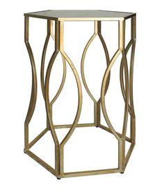 Ooh! - Gold Geometric Side Table