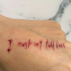 I must not tell lies, this tattoo idea is kickass
