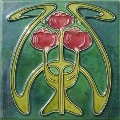 Majolica Tile Art Nouveau