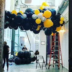 Balloon Ceiling, Ceiling Canopy, Visual Merchandising Displays, Storm Clouds, Strobing, Plane, Mickey Mouse, Balloons, Lights