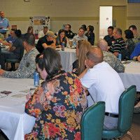 Unit representatives learn about suicide intervention