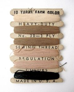 vintage military thread.