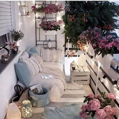 Examples of Small Balcony Decoration, balconies furnitures, we have prepared great ideas for those with small balconies. More than 100 examples for small balcony decoration. My balconies are very . Apartment Balcony Decorating, Apartment Living, Apartment Balconies, Apartment Porch, Decorating Small Apartments, Small Cozy Apartment, Cozy Apartment Decor, 2 Bedroom Apartment, Small Balcony Decor