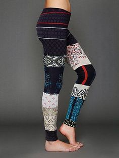 Inspiration for patchwork sweater leggings.