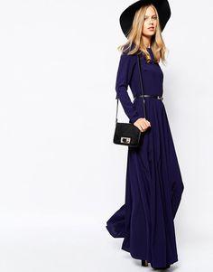 Ilga mėlyna suknelė | Lost Ink - ASOS.com | ShopSpy.lt