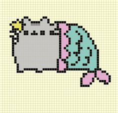 Cross Stitch Kits Mermaid Pusheen Cross stitch pattern - Post with 0 votes and 721 views. Kawaii Cross Stitch, Cute Cross Stitch, Counted Cross Stitch Patterns, Cross Stitch Designs, Cross Stitch Embroidery, Pixel Art Chat, Pixel Art Grid, Learn Embroidery, Embroidery Patterns