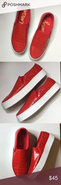 ed538b5c6e0e NWOB Sam Edelman Lacey Slip On Sneakers Red Croc 8 An essential slip-on  sneaker