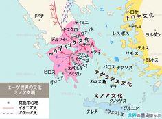 ミノア文明地図 - 世界の歴史まっぷ