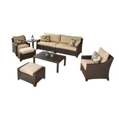 Delano 7-Piece Patio Seating Set-OP-PECLB7-DEL-K at The Home Depot