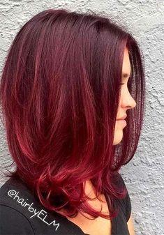 100 Badass Red Hair Colors: Auburn, Cherry, Copper, Burgundy Hair Shades - New Hair Red Balayage Hair Burgundy, Red Ombre Hair, Dyed Red Hair, Red Hair Color, Color Red, Auburn Balayage, Short Burgundy Hair, Hair Dye, Burgundy Bob