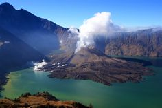Mt Rinjani's ash emissions bring fertility to the island's rice fields and tobacco crops