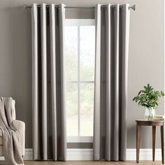 null Accent any space in effortless style with this Ginnifer Solid Room Darkening Grommet Single Curtain Panel, perfect dressing your windows in the parlor or guest suite. Curtain Color: Sage Green, Size per Panel: x Grommet Curtains, Drapes Curtains, Curtain Panels, Double Curtains, Sauce Barbecue, Wallpaper Panels, Wallpaper Roll, Wood Panel Walls, Decor Pillows
