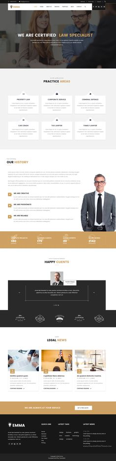 Emma is unique hovering effect 10 in 1 bootstrap HTML #theme for multipurpose onepage and mulitpages #lawyer #website. Download Now!