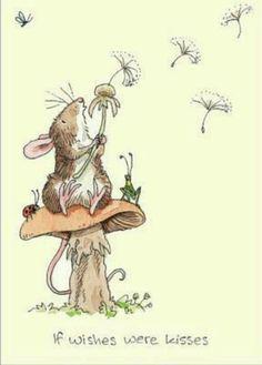 . Dandelion Drawing, Blowing Dandelion, Dandelion Art, Dandelion Seeds, Taraxacum Officinale, Mouse Illustration, Illustration For Children, Mushroom Drawing, Dandelions