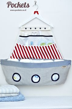cute diaper and babystuff container