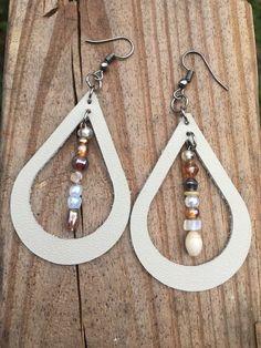 2.5 Lavender purple lilac teal green faux leather pebble textured metallic teardrop earrings