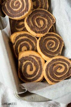 Chocolate Peanut Butter Pinwheels Recipe