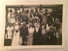 Halloween Party Kids Costumes Masks Cowboys Indians Vintage Snapshot Photo 1947 | eBay