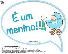 Plaquinhas Divertidas Chá de Bebê Menino 12